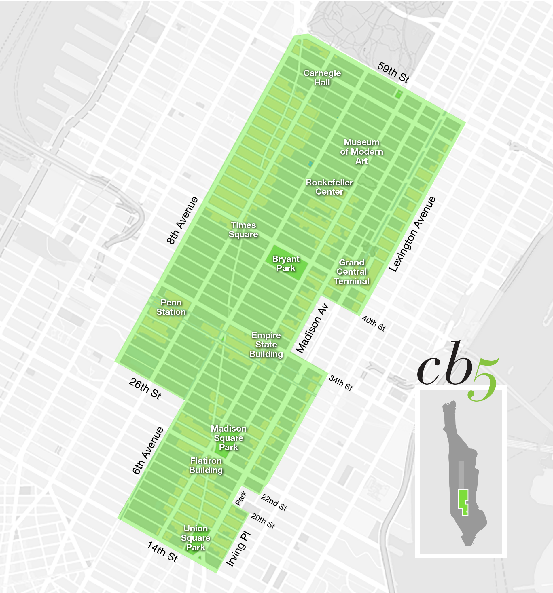 Interactive Map Of Manhattan.Map Of The District Manhattan Community Board Five