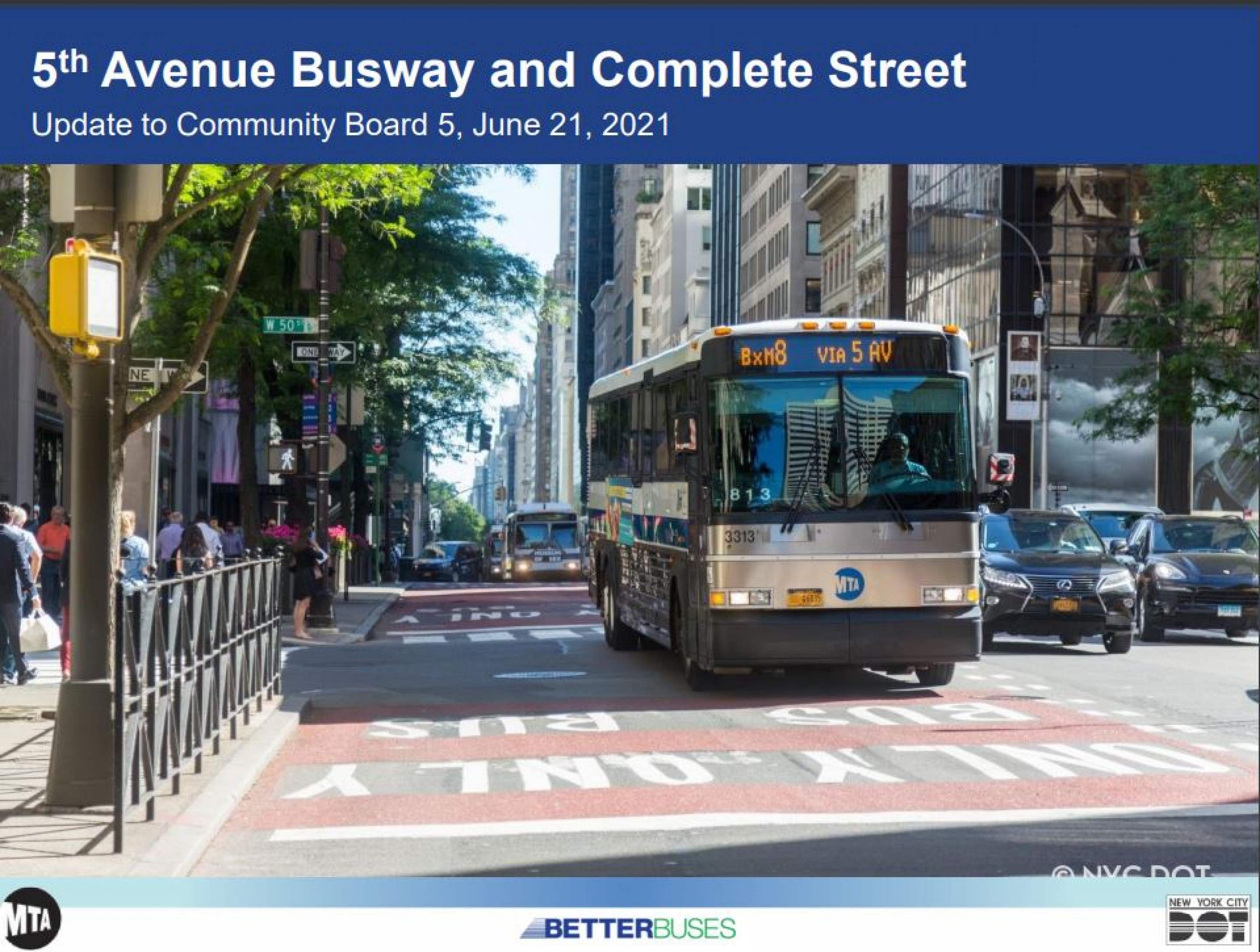 Banner Photo: 5th Avenue Busway and Complete Streets Proposal