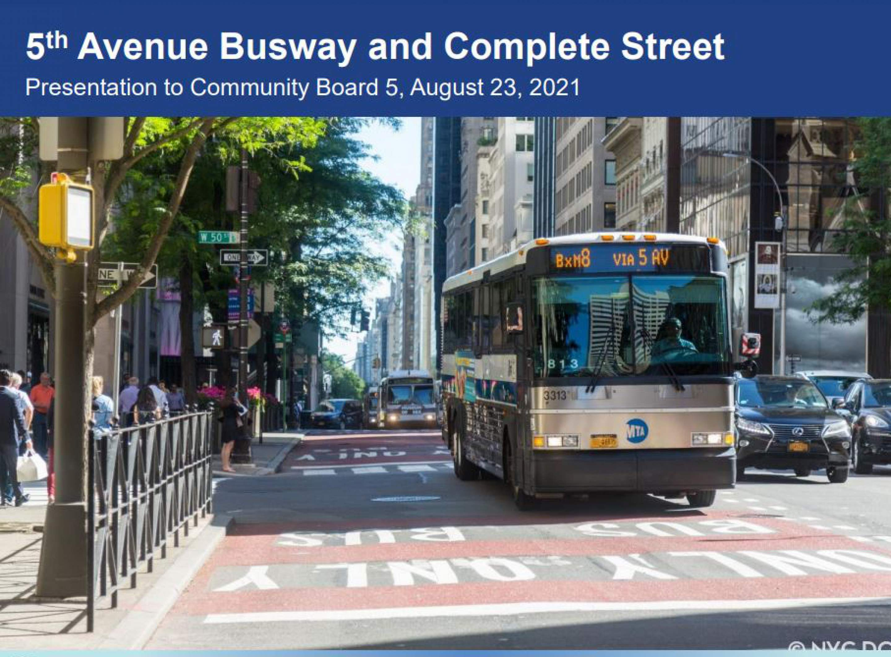Banner Photo: 5th Avenue Busway & Complete Street Presentation