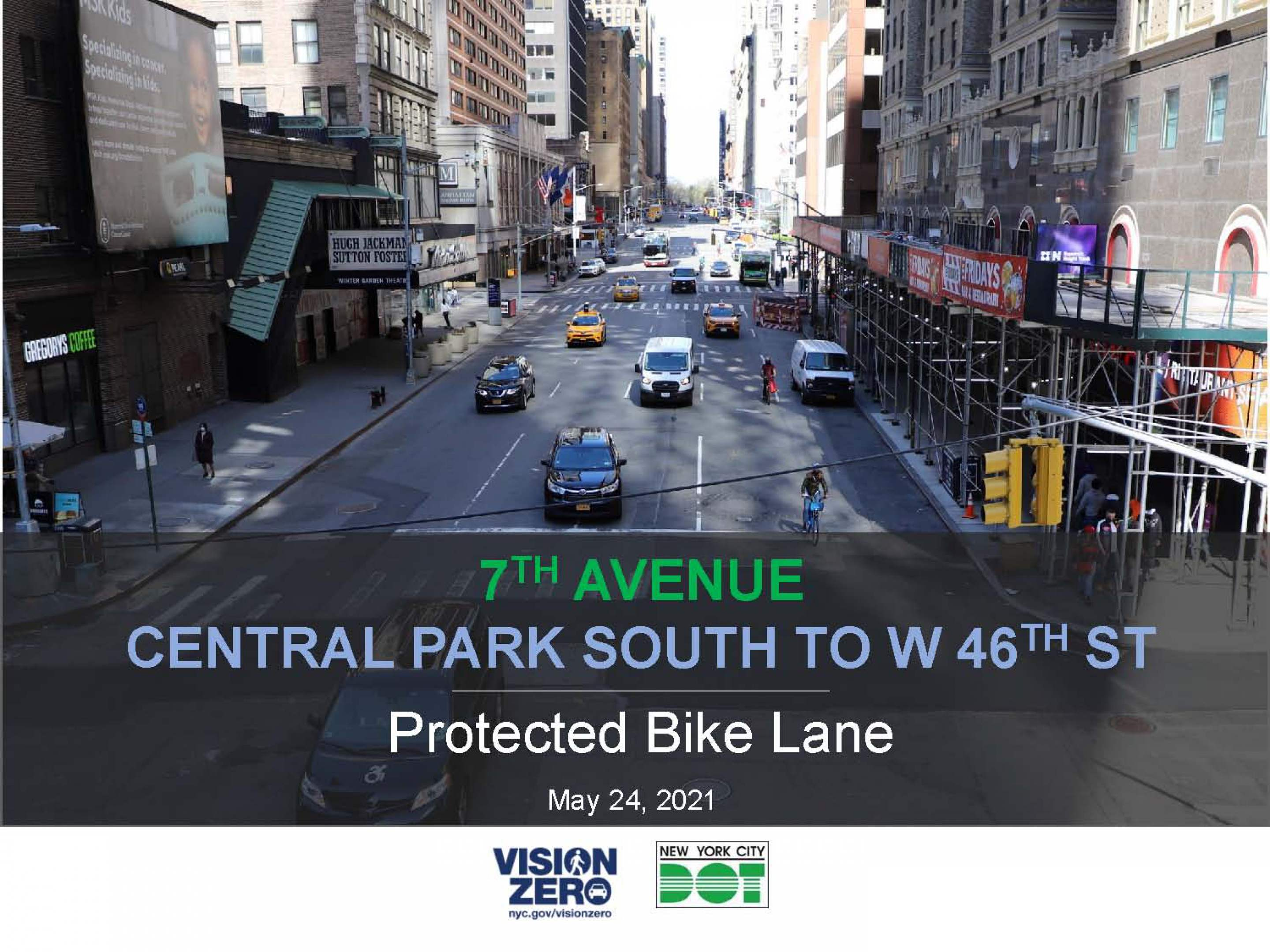 Banner Photo: 7th Avenue Protected Bike Lane (Central Park to Times Square)